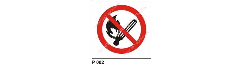 Zákaz fajčiť a používať otvorený oheň - bezpečnostné značky