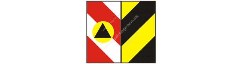 Signalizačné šrafovanie, označenie schodov a schodísk