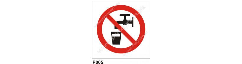 Zákaz pitia - bezpečnostné nálepky a tabuľky