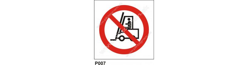 Priemyselným vozidlám je vjazd zakázaný - označenia priestorov
