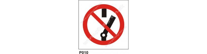 Zákaz zapnutia - bezpečnostná značka