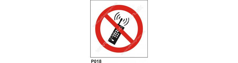 Zákaz používania mobilných telefónov - bezpečnostná značka