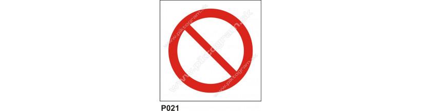 Zákazové značenie - bez piktogramu