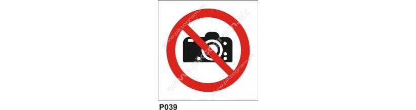 Zákaz fotenia - bezpečnostné označenie