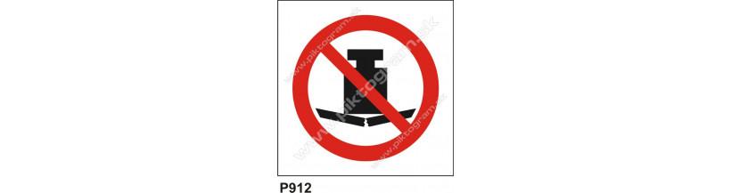 Zákaz zaťažovať bremenom - bezpečnostné značenie, piktogram